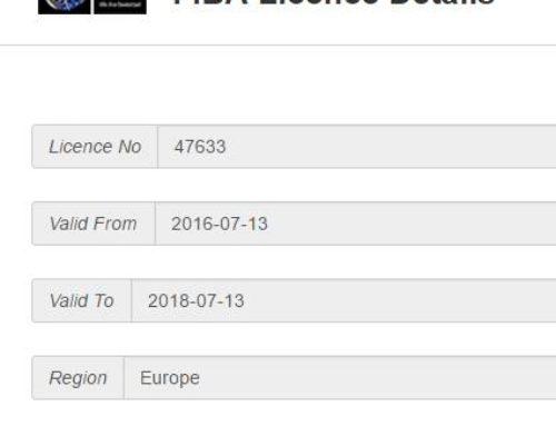 Certificato FIBA
